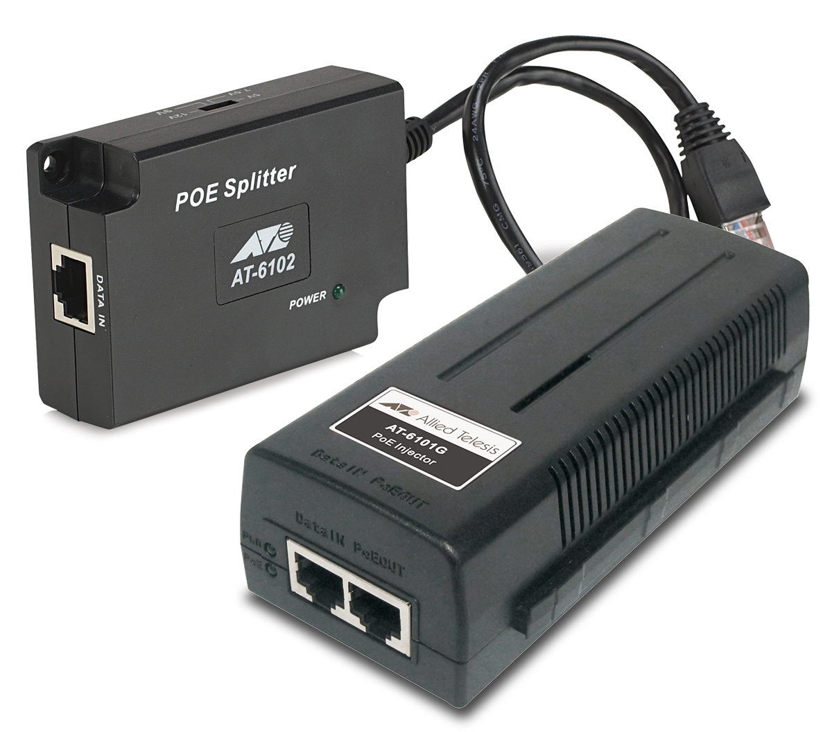 6100 Series Poe Injectors And Splitters Allied Telesis Network Camera System Injector Vs Midspan Switches