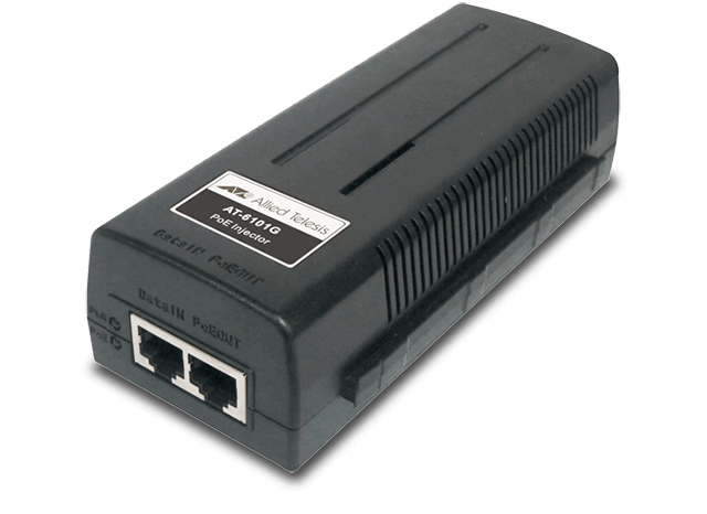 Allied Telesis 6101G IEEE 802.3af single-port Gigabit Ethernet PoE midspan injector
