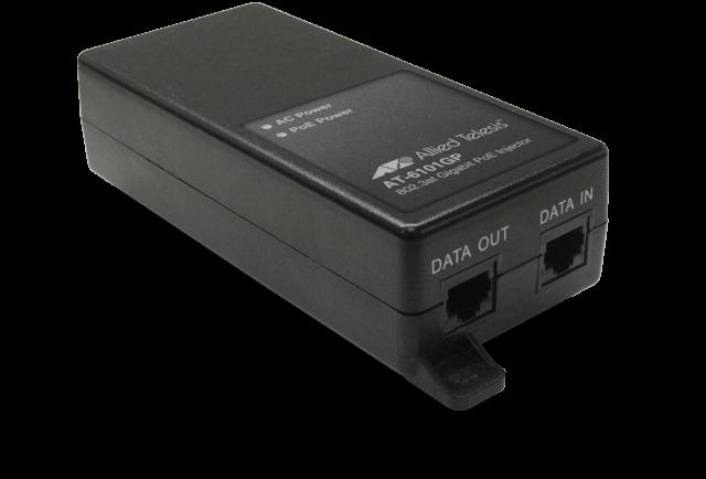 Allied Telesis 6101GPᅠ IEEE 802.3at single-port Gigabit Ethernet PoE+ midspan injector