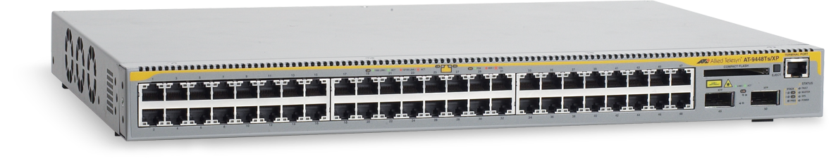 Allied Telesis 9448Ts/XP  10/100/1000T x 48 ports Ethernet Layer 3 switch with 10Gbps XFP uplinks x 2 and optional stacking modules