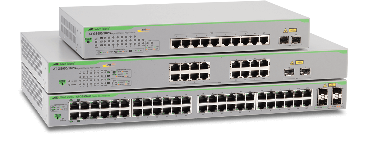 Gs950 Series Gigabit Websmart Switches Allied Telesis