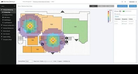 Vista Manager floor map