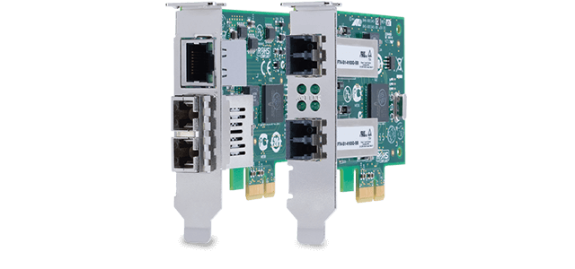 Allied Telesis 2911 Series PCI Express Gigabit Network Adapters provide the maximum possible bandwidth and bus efficiency-with the lowest power consumption.