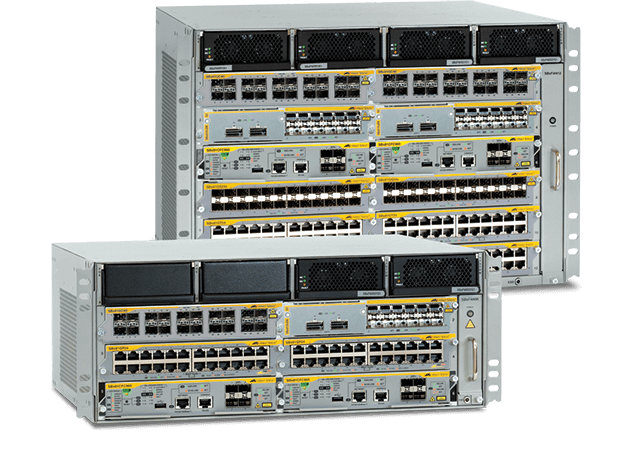 Allied Telesis SwitchBlade x8100 Series  The SwitchBlade x8100 Series Layer 3+ chassis switches guarantee high performance for the large enterprise network core, combining resilience and scalability.