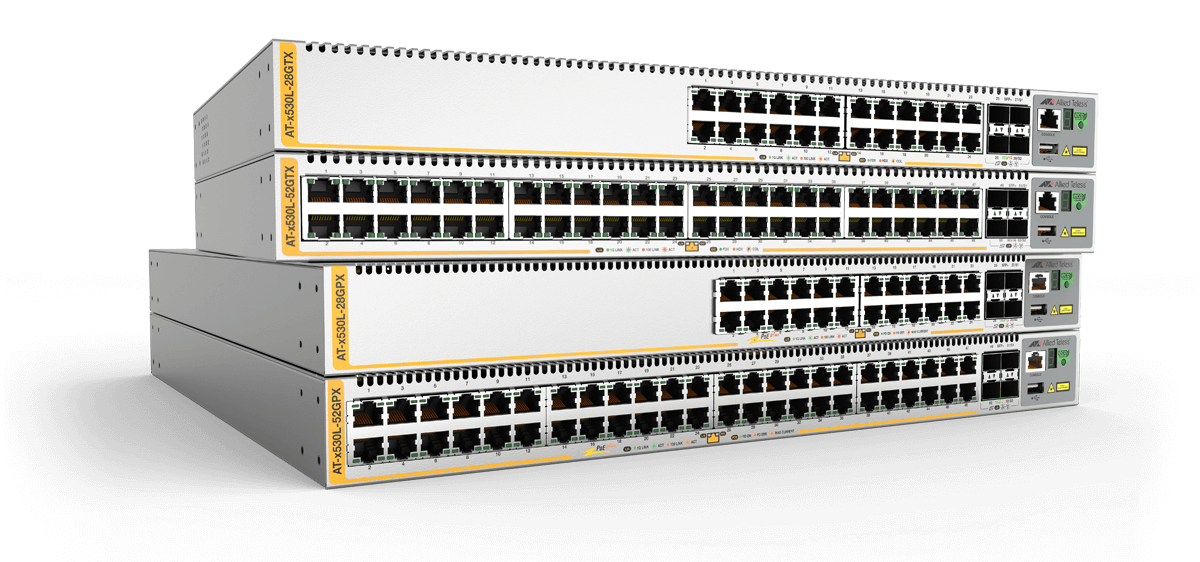 Allied Telesis x530L Series The Allied Telesis x530L Series stackable Layer 3 switches feature high capacity, resiliency and easy management, making them the ideal choice for network access applications.