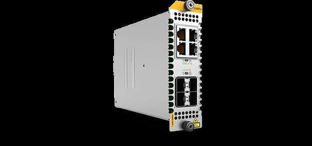 Allied Telesis XEM2-8XSTm 4 x 1G/2.5G/5G/10G (RJ45), 4 x 1G/10G SFP+ port module.