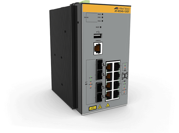 Allied Telesis IE340-12GT 8x 10/100/1000T, 4x 100/1000X SFP, Industrial Ethernet, Layer 3 Switch