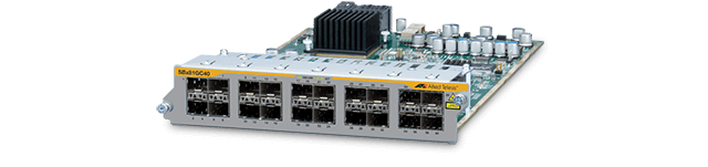 Allied Telesis SBx81GC40 The Allied Telesis SBx81GC40 line card provides 40 Gigabit interfaces through 20 CSFP (Compact SFP) slots. Each CSFP module is equipped with two independent Gigabit Bidirectional Optical interfaces for a total of 40 Gigabit Optical Links.