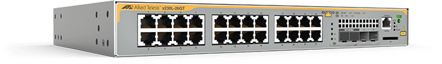 Allied Telesis x230L-26GT The Allied Telesis x230L-26GT features 24 x 10/100/1000T ports with 2 SFP Gigabits uplink ports.