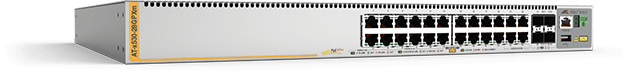 Allied Telesis x530-28GPXm 20 x 100M/1G and 4 x 100M/1G/2.5G/5G PoE+ port stackable switch with 4 SFP+ ports and 2 x fixed PSU