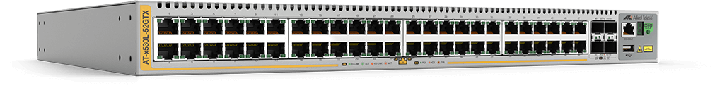 Allied Telesis x530L-52GTX 48-port 10/100/1000T stackable switch with 4 SFP+ ports and 2 fixed power supplies