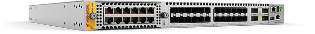 x950-28XSQ 24 x 1/10G SFP/SFP+, 4 x 40G/100G QSFP+/QSFP28 ports, a XEM bay, and dual hotswap PSU and Fan bays