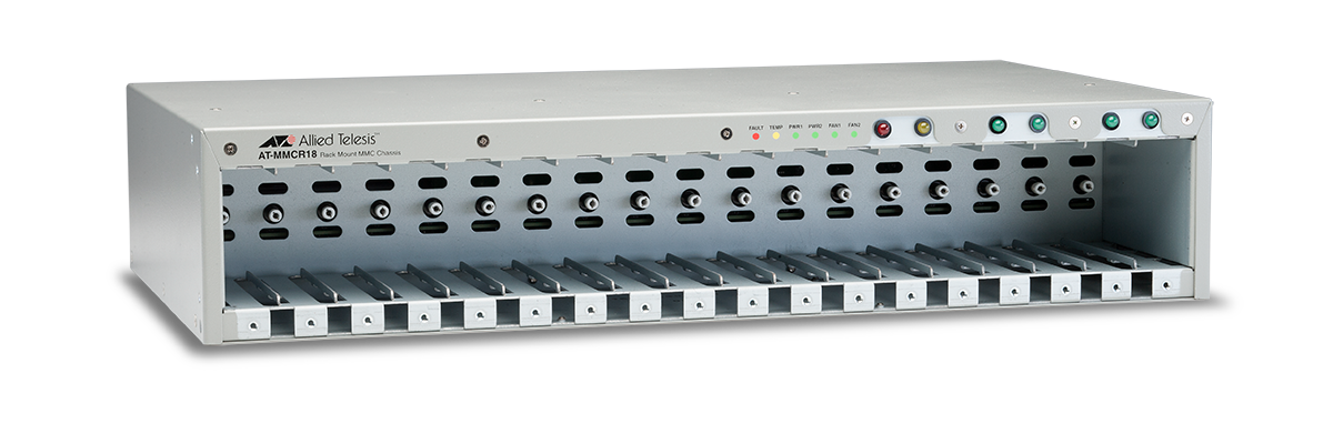 Allied Telesis MMCR18 Power distribution chassis for up to 18 unmanaged media converters.