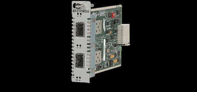 Allied Telesis CV1KSS 1000X SFP to 1000X SFP media converter line card for the Converteon™ Series