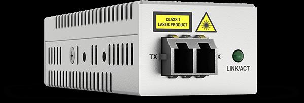 Allied Telesis DMC100/LC 100TX to 100FX/LC mini media converter, USB powered
