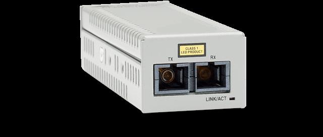 Allied Telesis DMC100/SC 100TX to 100FX (SC) desktop mini media converter, USB powered