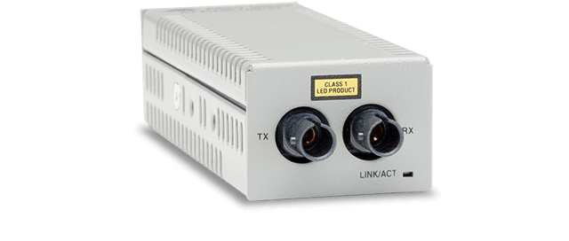 Allied Telesis DMC100/ST 100TX to 100FX (ST) desktop mini media converter, USB powered
