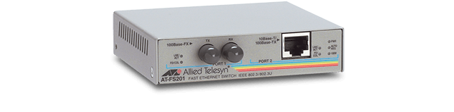 Allied Telesis FS201 10/100TX to 100FX (ST) media and rate converter
