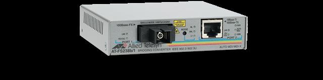 Allied Telesis FS238B/1 Fast Ethernet to Fiber BiDi Media and Rate Converter