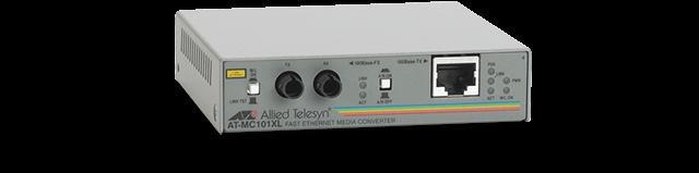 Allied Telesis MC101XL 100TX to 100FX/ST standalone media converter