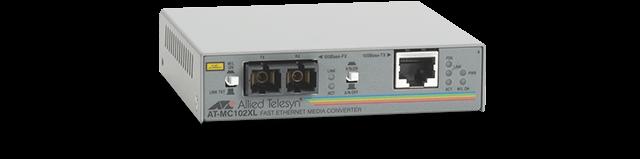 Allied Telesis MC102XL 100TX to 100FX/SC standalone media converter