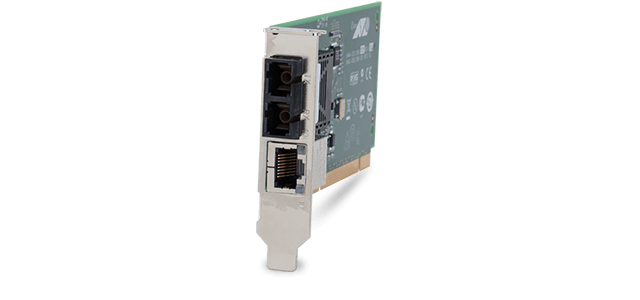 Allied Telesis MC102XLPCIe 100TX to 100FX (SC) PCIe BUS media converter