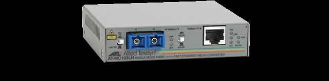 Allied Telesis MC103LH 100TX to 100LX/SC standalone media converter