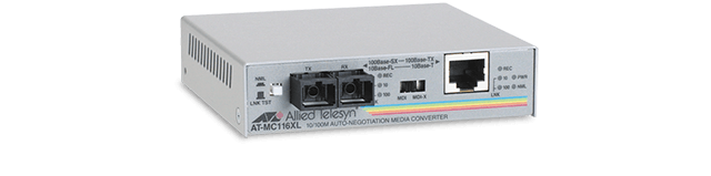 Allied Telesis MC116XL 10/100TX to 10FL/100SX (SC) media and rate converter