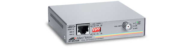 Allied Telesis MC606 10/100TX Rate/Media Converter Transmitting VDSL over Coaxial Cable