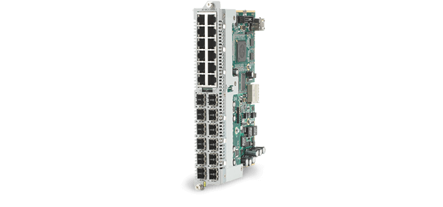 Allied Telesis MCF2012LC/1 12 channel 100TX to 100FX/LC line card, 15km single-mode  for MCF2000 or MCF2300 chassis