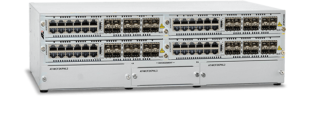 Allied Telesis MCF2300 4-slot media converter chassis for the MCF2000 Series line cards