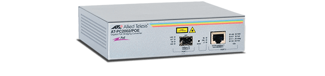 Allied Telesis PC2002POE Two-port Gigabit Speed/Media Converting Switch with PoE