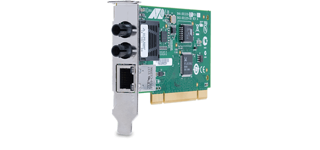 Allied Telesis 2701FTXa/ST PCI 32-bit Fast Ethernet fiber and copper Network Interface Card