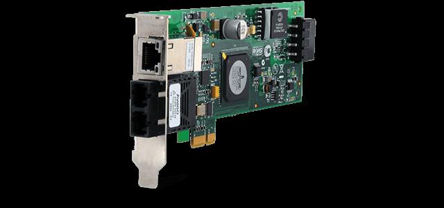 Allied Telesis 2716POE/FXSC PCI-Express dual port PoE Network Interface Card (SC)