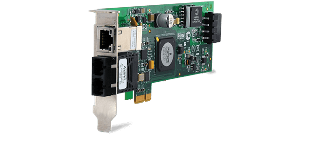 Allied Telesis 2716POE/FXST PCI-Express dual port PoE Network Interface Card (ST)