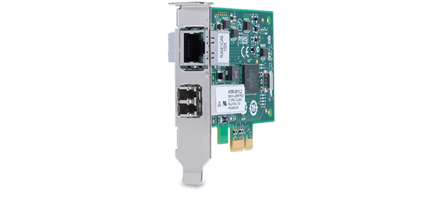 Allied Telesis 2911LTX/LC 1000LX (LC) + 10/100/1000T PCIe x1 desktop Network Interface Card