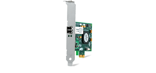Allied Telesis 2972LX10/LC PCIe x 1 (channel) single-mode 10 km fiber Gigabit Network Interface Card
