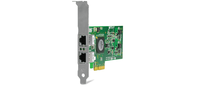 Allied Telesis 2973T 2x 10/100/1000T PCIe x4 server Network Interface Card