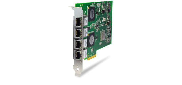 Allied Telesis 2973T/4 4 x 10/100/1000T PCIe x4 server Network Interface Card