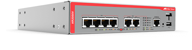 Allied Telesis AR2050V The AR2050V Secure VPN Router is the ideal secure branch office gateway for modern businesses. Powerful VPN functionality and firewall protection combine to provide high performing WAN connectivity.