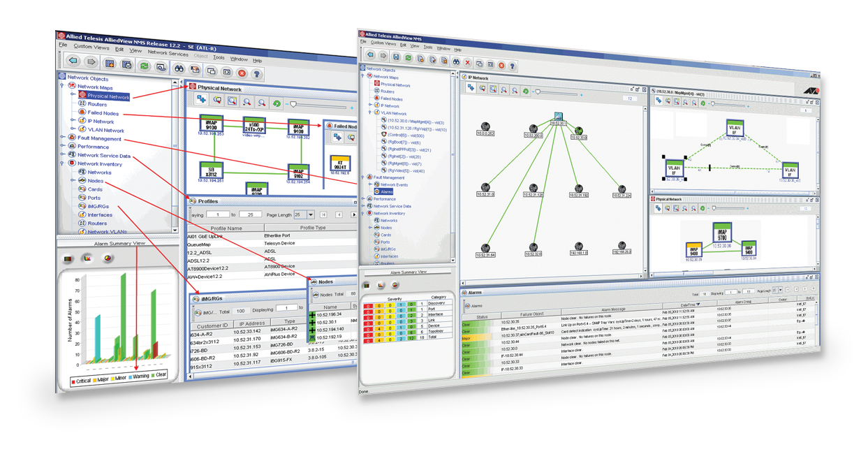 AlliedView™ NMS A fully-featured network management system