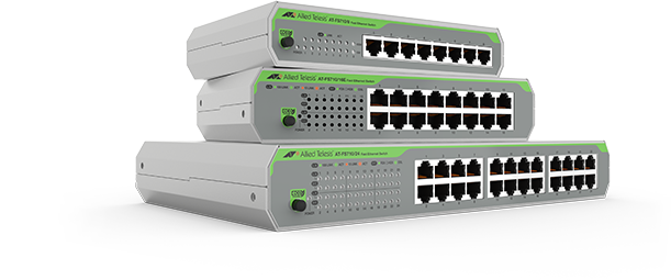 Allied Telesis CentreCOM FS710 Series The FS710 Series of unmanaged fast Ethernet switches provide easy set-up, with silent operation and simple connectivity for desktop and small to medium network environments.