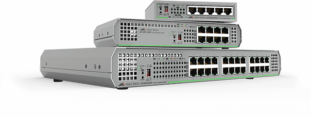 Allied Telesis CentreCOM GS910 Series The GS910 Series switches offer unmanaged Gigabit switching solutions for the desktop and small networks, with minimal to no set-up. Learn more now!