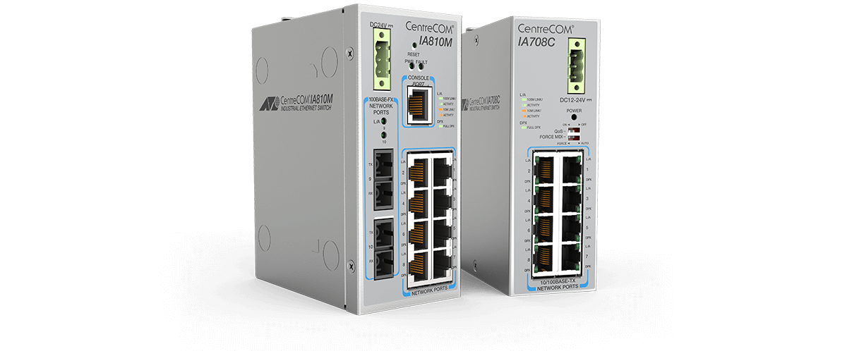 Allied Telesis CentreCOM IA Series The Allied Telesis IA Series switches are a high-performing, cost-effective and robust solution for today's industrial network environments.