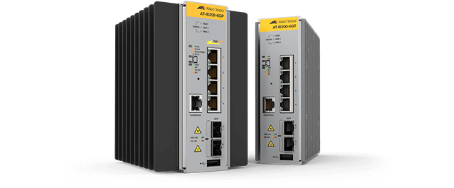 Allied Telesis IE200 Series Ruggedized IE200 Industrial Ethernet switches provide enduring performance in harsh manufacturing, transportation and physical security environments. Learn more.