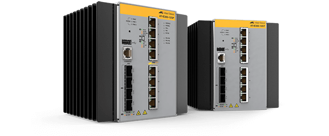 Allied Telesis IE300 Series Ruggedized IE300 Series switches are high-performing, cost-effective switches that meet the stringent requirements of today's industrial networks.