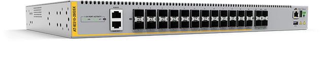 Allied Telesis IE510-28GSX Series IE510-28GSX Industrial Ethernet switches are built for enduring performance in harsh environments, such as those found in manufacturing, transportation and physical security.