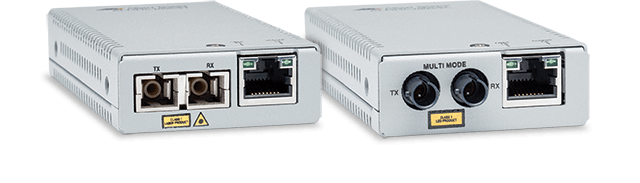Allied Telesis MMC Series These fast ethernet fiber mini media and rate converters offer a smaller size and carbon footprint to help the environment and save office space.