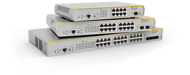 Allied Telesis x210 Series The x210 Series Layer 2+ switches offer a reliable and value-packed affordable package, ideal for applications at the network edge. Learn more now!
