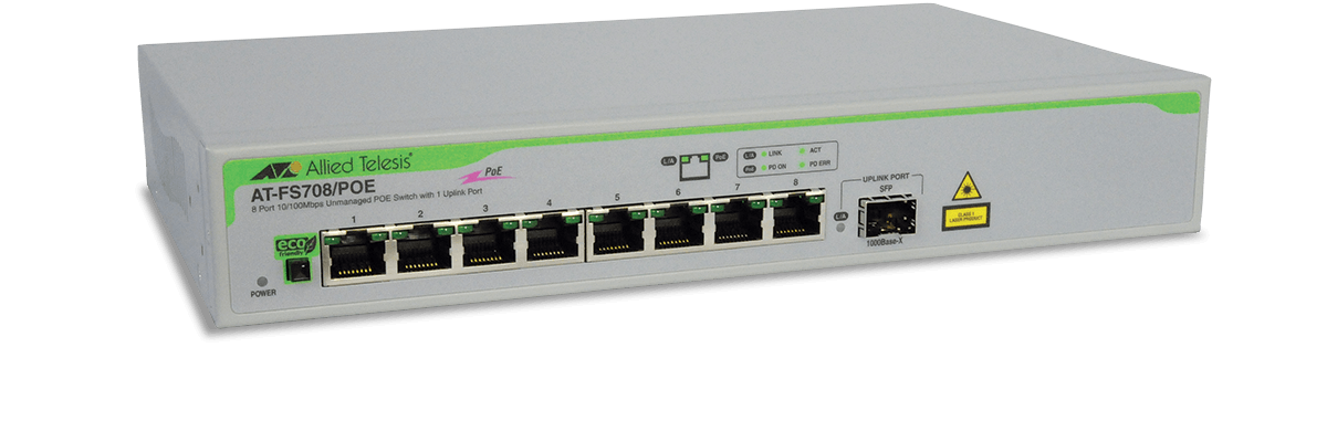 Fs708 Poe Unmanaged Fast Ethernet Switch Allied Telesis